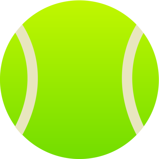 Simple Green Tennis Ball - Free Clip Art