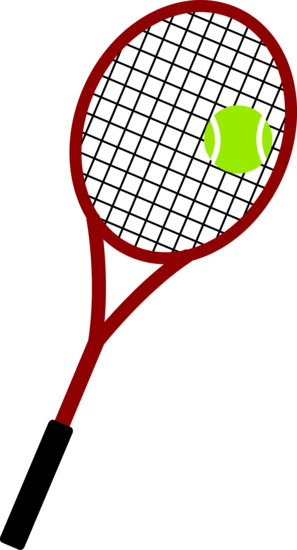 Red Tennis Racket and Ball