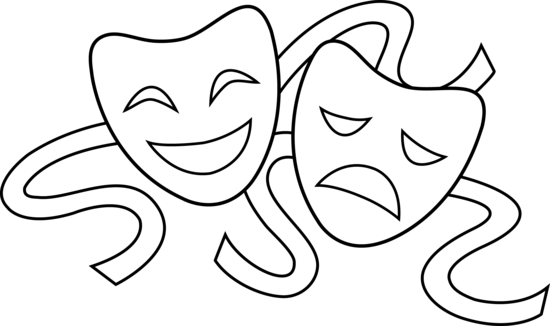 Theater Masks Outline