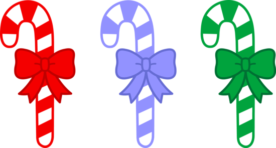Three Christmas Candy Canes