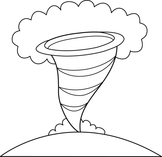 Colorable Tornado Design Free Clip Art Tornado Coloring Page