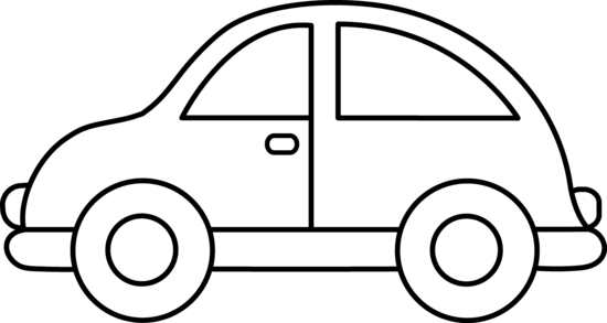 cute toy car coloring page free clip art