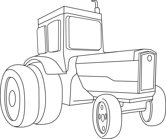 Tractor Coloring Page - Free Clip Art