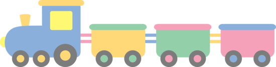 Pastel Toy Train
