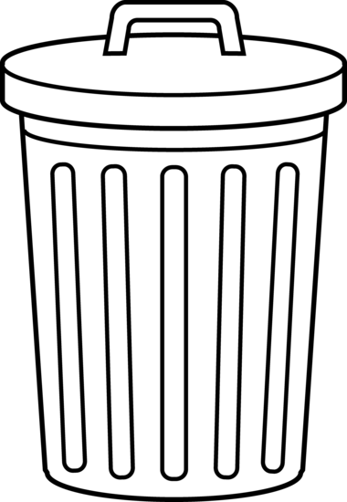 Trash Can Coloring Page
