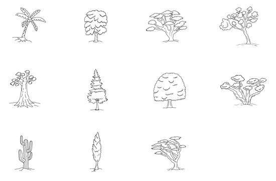 Eleven Trees Coloring Page