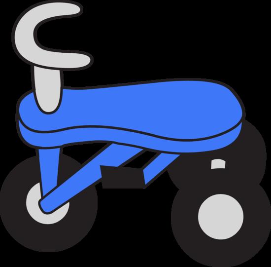 Little Blue Tricycle Clip Art