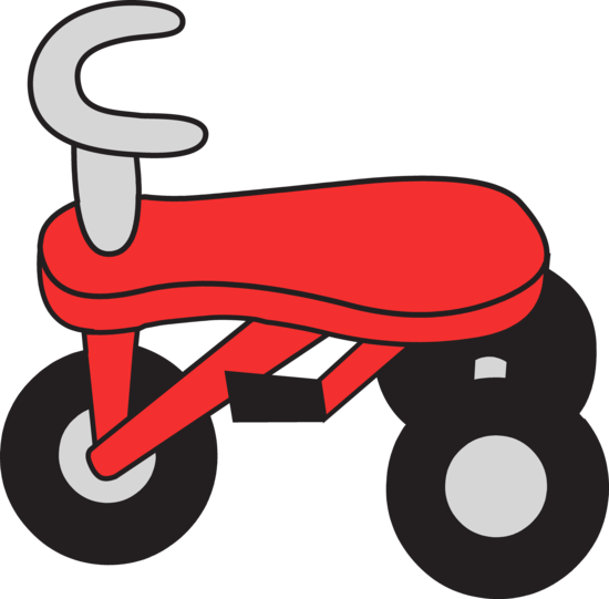 Little Red Tricycle Clip Art