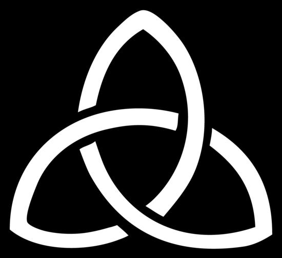 Triquetra Symbol Line Art - Free Clip Art