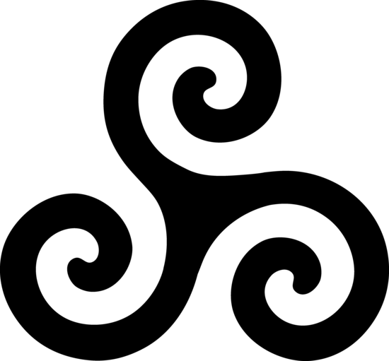 Black Triskelion Symbol