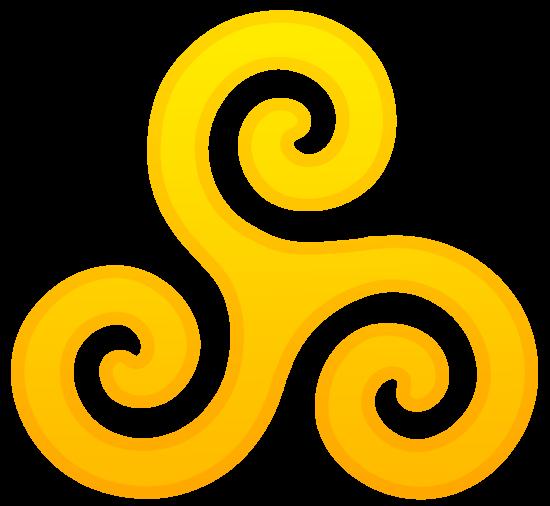 Golden Triskele Symbol