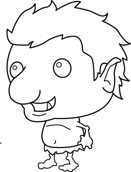 Little Troll Coloring Page