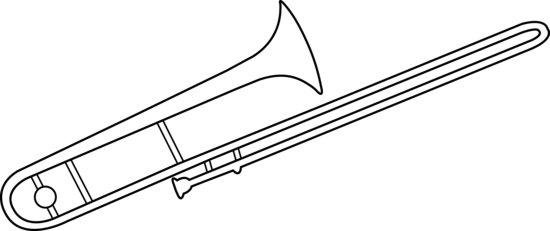 Trombone Line Art