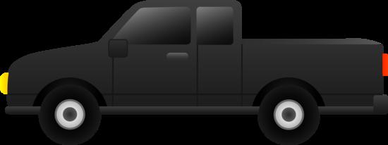 Black Pickup Truck Clip Art