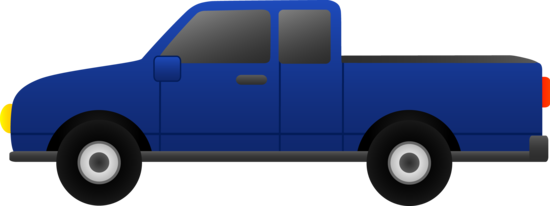 Blue Pickup Truck Clip Art