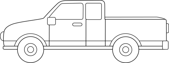 Line Drawing Truck : Pickup truck coloring page free clip art