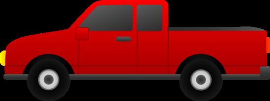 Red Pickup Truck Clip Art - Free Clip Art