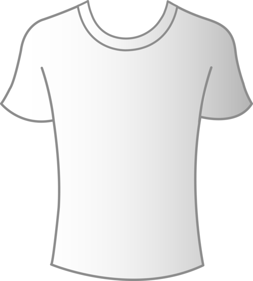 Mens White Tee Template