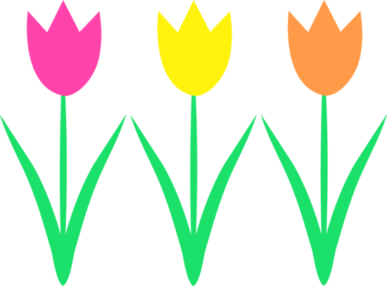Cute Spring Tulips Clip Art