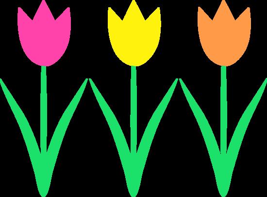 cute spring tulips design   free clip art