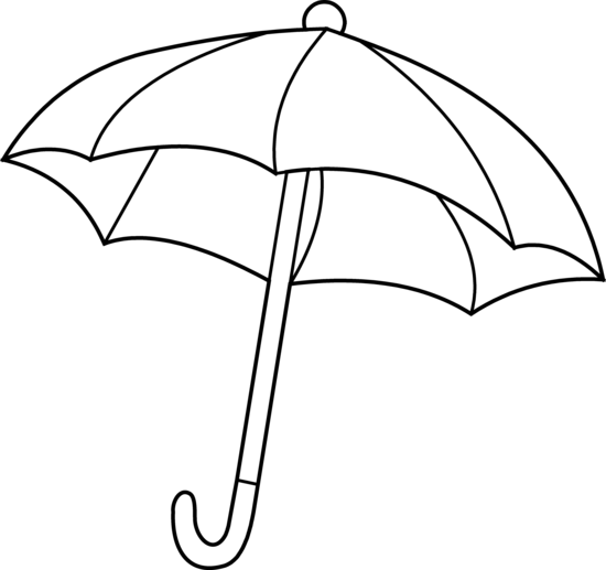 Line Drawing Umbrella : Umbrella coloring page free clip art