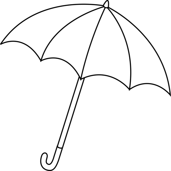 Colorable Umbrella Outline
