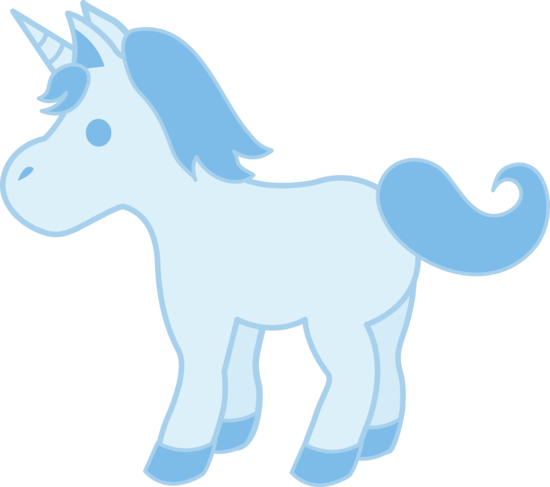 Cute Baby Blue Unicorn