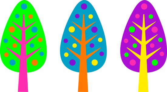Brightly Colored Christmas Tree Designs