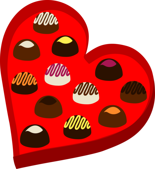 Box of Valentines Day Chocolates