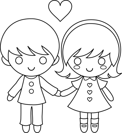 valentine coloring pages for girls - photo#24