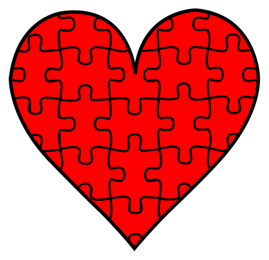 Heart With Puzzle Pieces