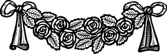 Vintage Roses Banner Decoration