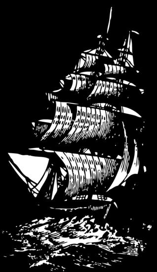 Vintage Brig Ship Clip Art