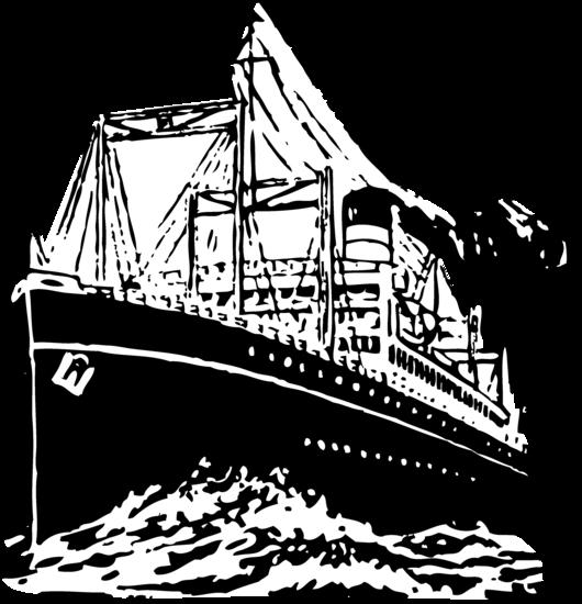 Vintage Ship Clipart Design