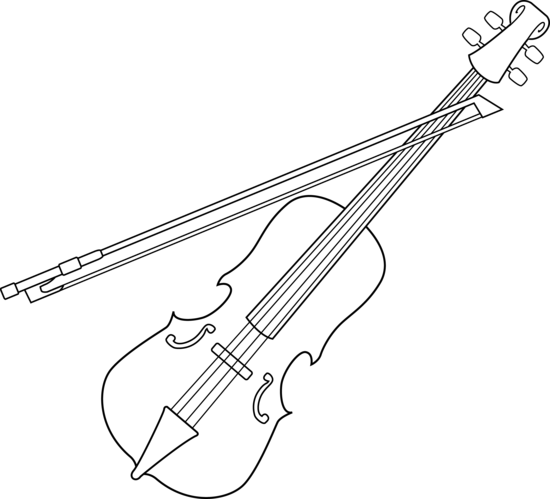 Violin Bow Drawing Violin coloring page