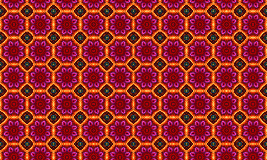 Flowers and Jewels Pattern