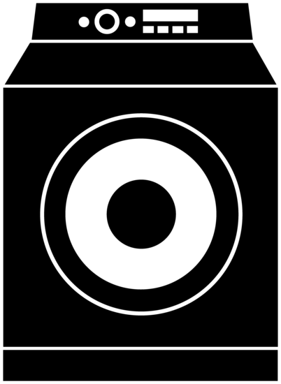 Black Washing Machine Logo