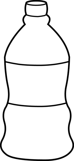 Water Bottle Line Art - Free Clip Art