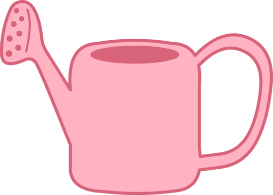 Pink Watering Can Clip Art