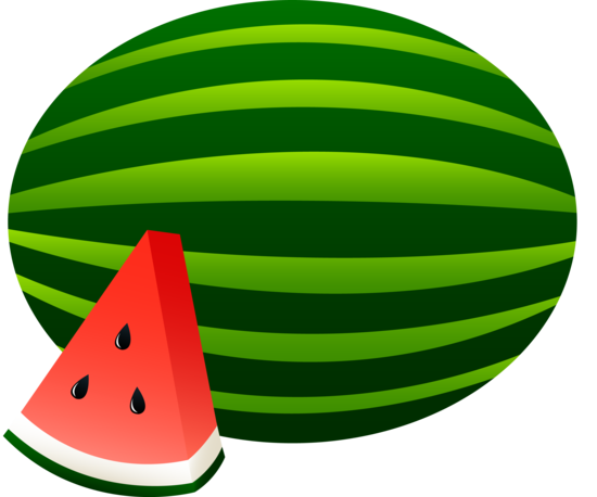 Large Watermelon and Slice