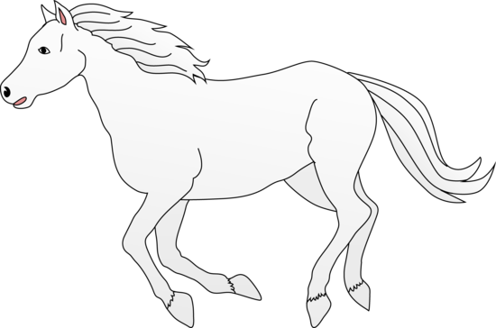 white horse galloping clip art free clip art rh sweetclipart com horse clip art pictures horse clip art pictures