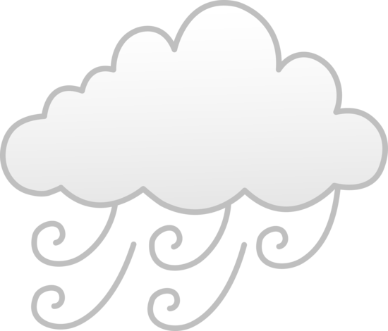 Wind or Fog Weather Symbol