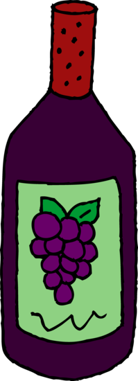 Bottle of Red Wine Clipart