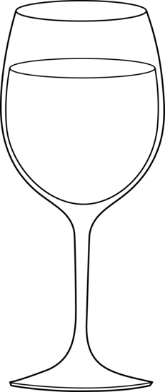 Glass of Wine Outline