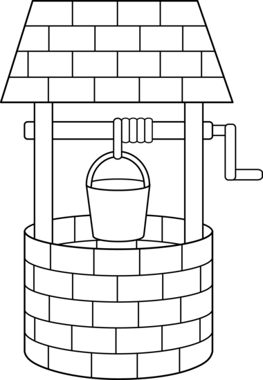 Wishing Well Line Art