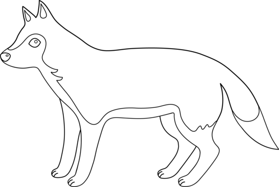 Wolf Outline For Coloring