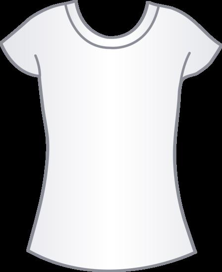 Womens White T Shirt Template - Free Clip Art