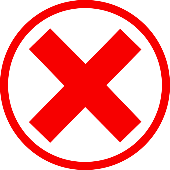 Red X Mark in Circle