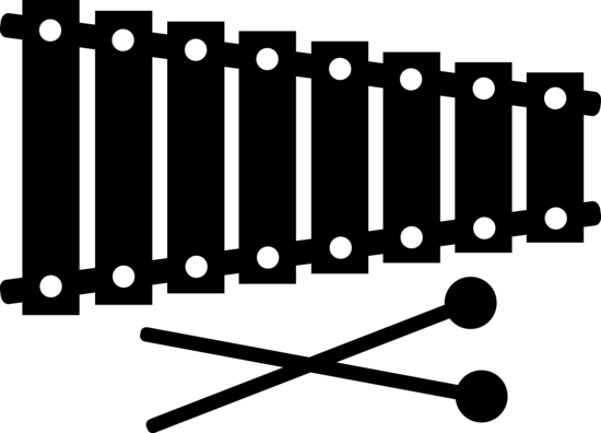 Black Xylophone Silhouette - Free Clip Art