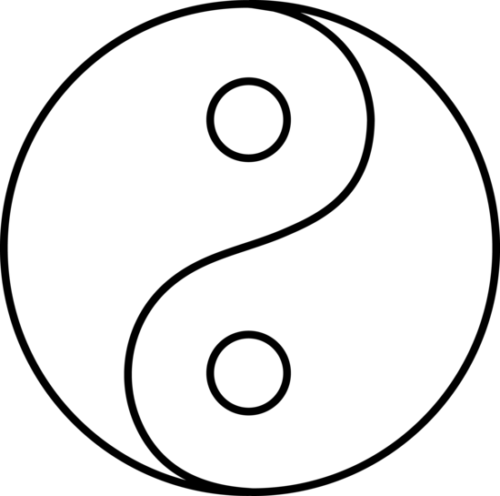 Blank yin yang line art free clip art for Ying yang coloring pages